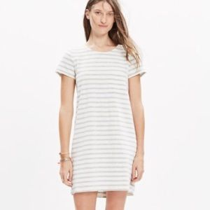 MADEWELL Button Back Stripe Pocket Tee Dress